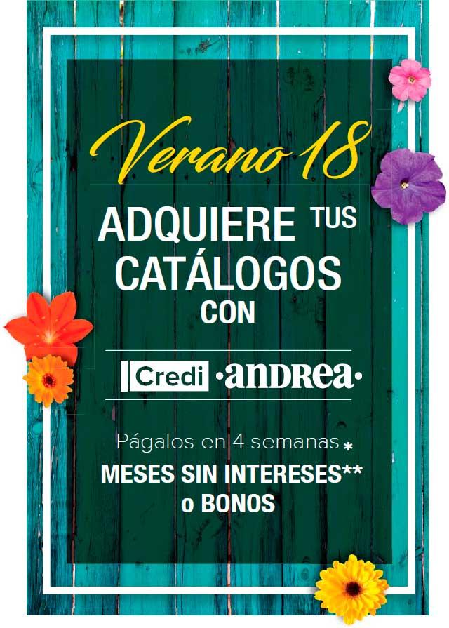 Preventa de Catálogos Primavera 18 | Andrea