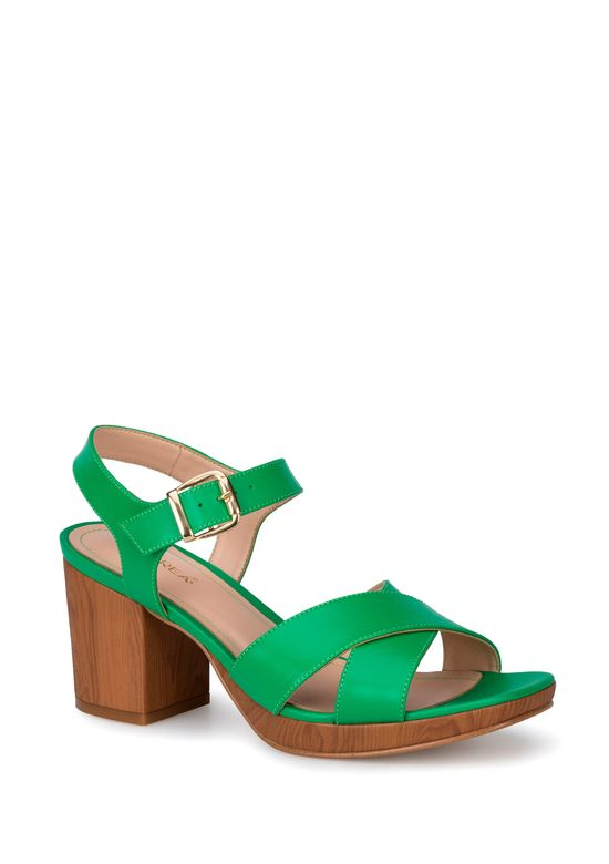 Andrea Sandalia Strap Verde Mujer Ankle Us 2414249 4c5jqALR3