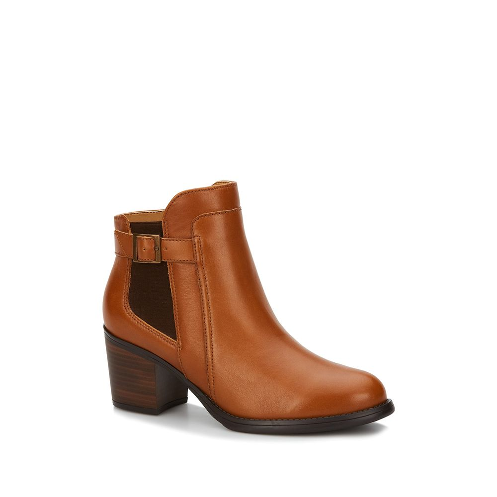 a9504abd10f42 BOTA ANKLE BOOT MUJER CAFÉ 2501963 - Andrea