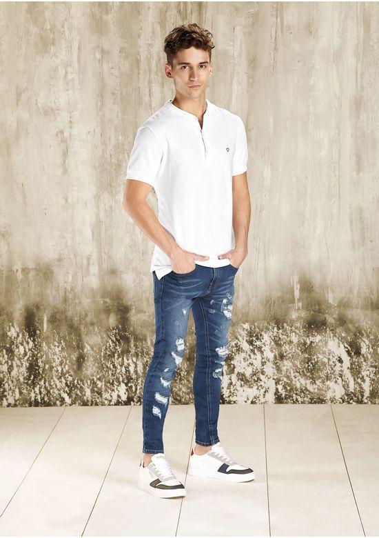WHITE POLO T-SHIRT 1479171 - MED