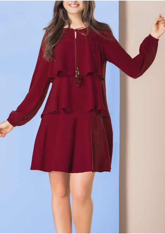 BURGUNDY DRESS 1399011 - SMA