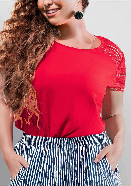 RED BLOUSE 1427691 - XXL