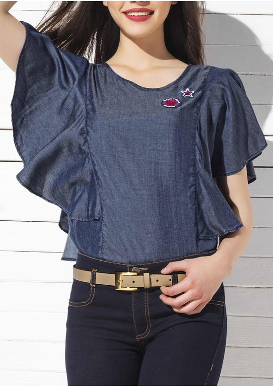 BLUE BLOUSE 1333916 - XLG