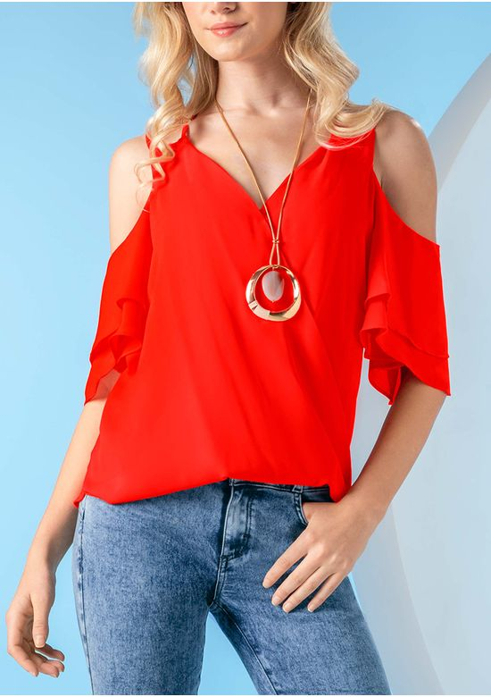 RED BLOUSE 1503135 - SMA