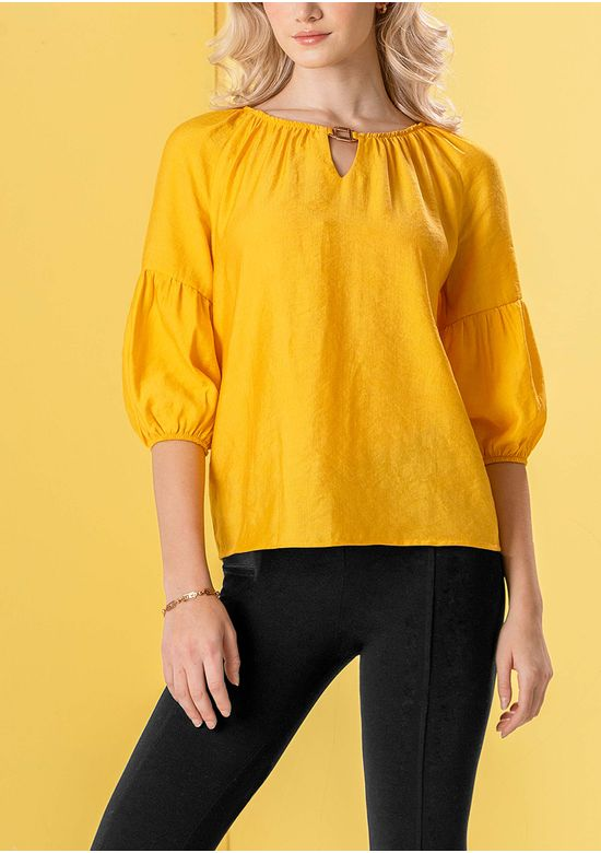 YELLOW BLOUSE 2918082 - MED