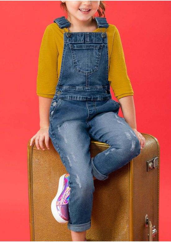 BLUE OVERALL 2921808 - 4Y